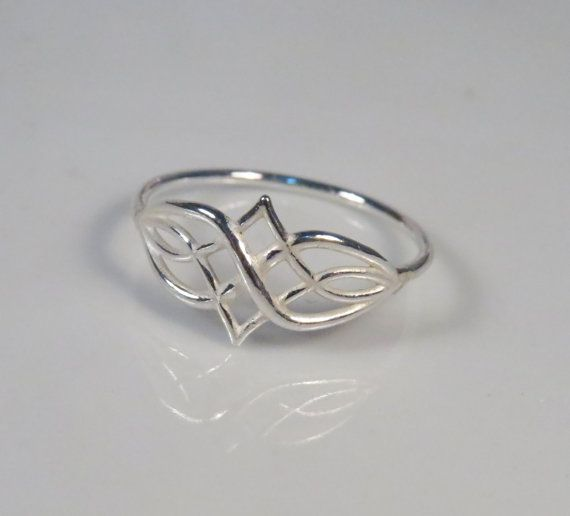 Infinity celtic knot ring sterling silver ring by DvoraSchleffer