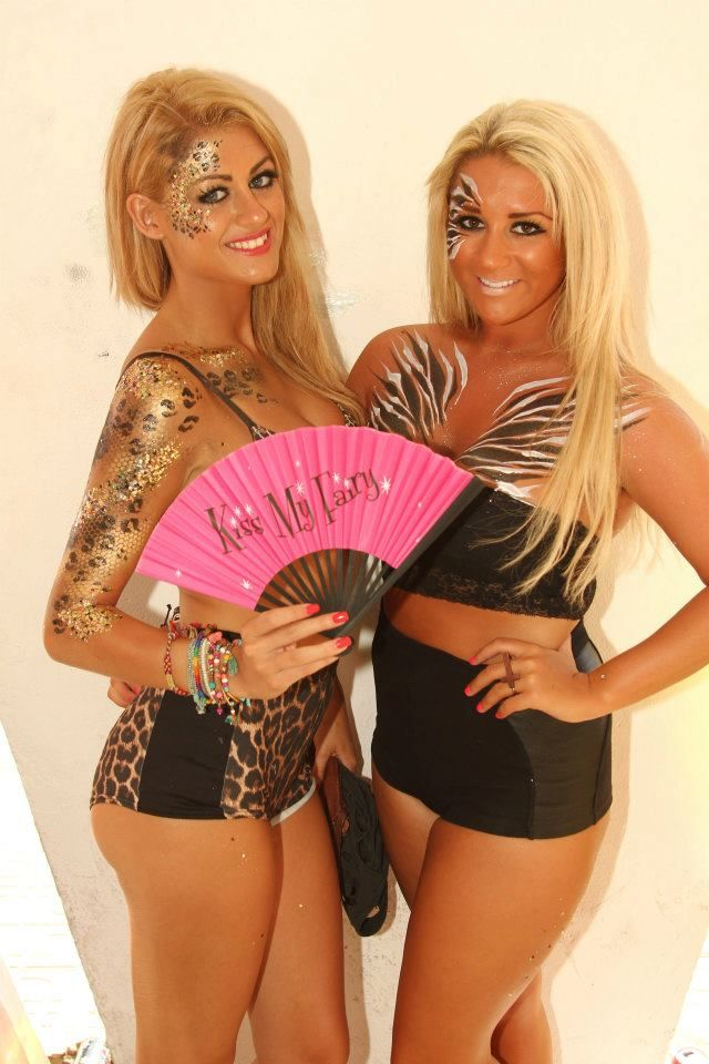 Zoo Project Bodypaint perfect for San Antonio #Ibiza Remember going to #Ibiza or any destination for your hen do visit http://www.funkyhen.com/hen-party-accessories/ and use DISCOUNT CODE PIN15 to save 15%