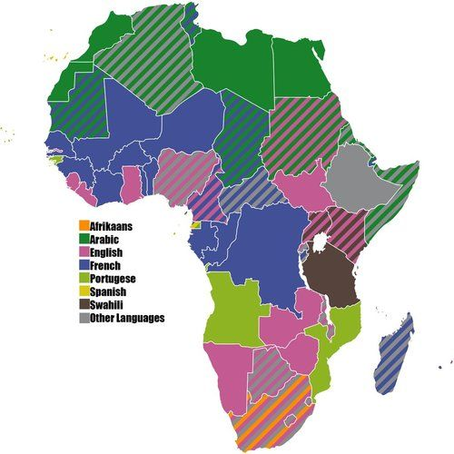 languages of africa map