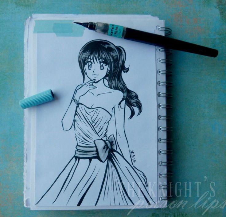 "FUDE PEN RICARICABILE PENTEL  - Manga ""Poison Lips"" sketchbook - by Ilaria Guinness ART"
