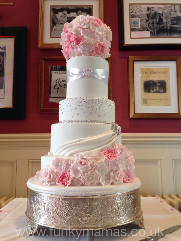 Spectacular Wedding pomander tiered wedding cake