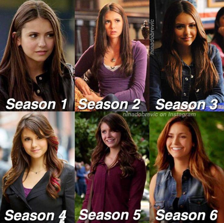 Elena Gilbert through the seasons. I'm going to miss her so much next season. Goodbye Elena and thank you Nina for the six years on the show.