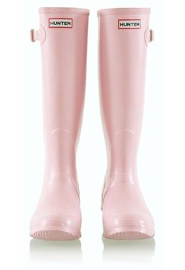 Light Pink Hunter Wellies