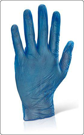 Γαντια μιας χρησης Click Once VD βινυλιου μπλε