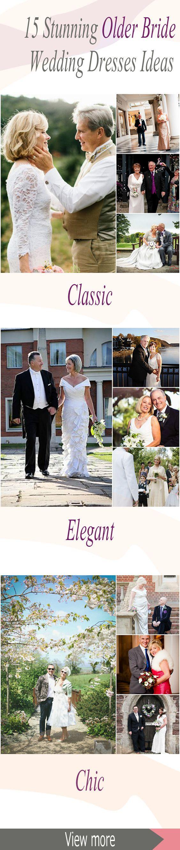 Stunning older bride wedding dress, for older bride dresses over 40? No problem…                                                                                                                                                     More