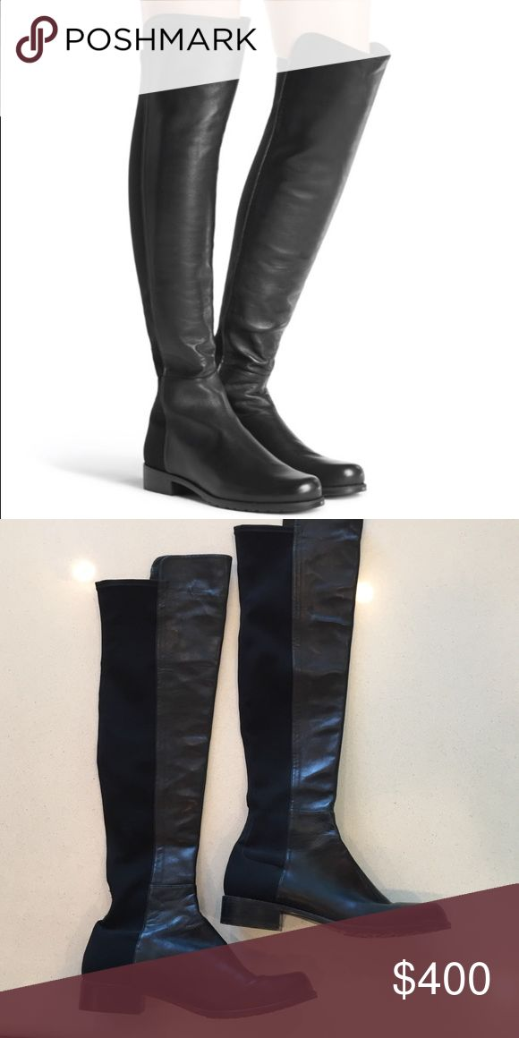Stuart Weitzman 5050 Boot International best seller and iconic over-the-knee boot, the 5050 has a uniquely stylish design of micro stretch and nappa leather. The elasticized micro allows for a sleek look and the ultimate stretch to fit most legs. Stuart Weitzman Shoes Over the Knee Boots