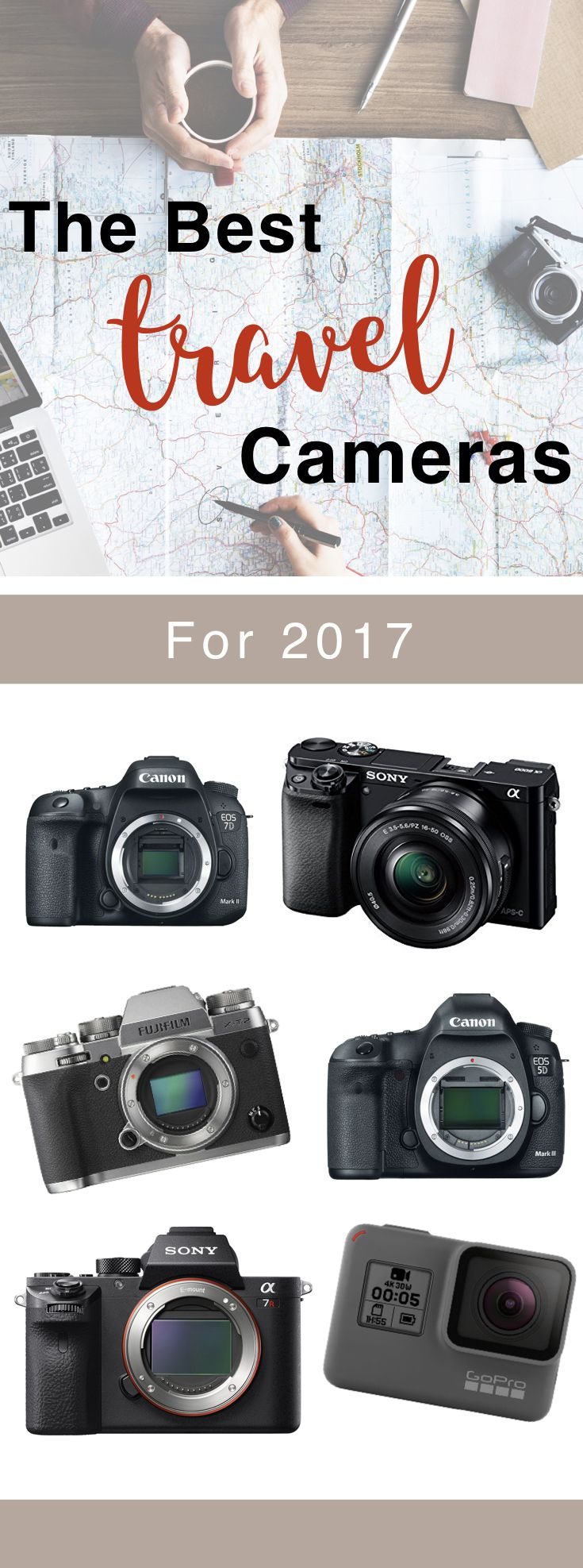 The Best Travel Cameras for 2017. The best cameras for Travel Bloggers and Travelers.