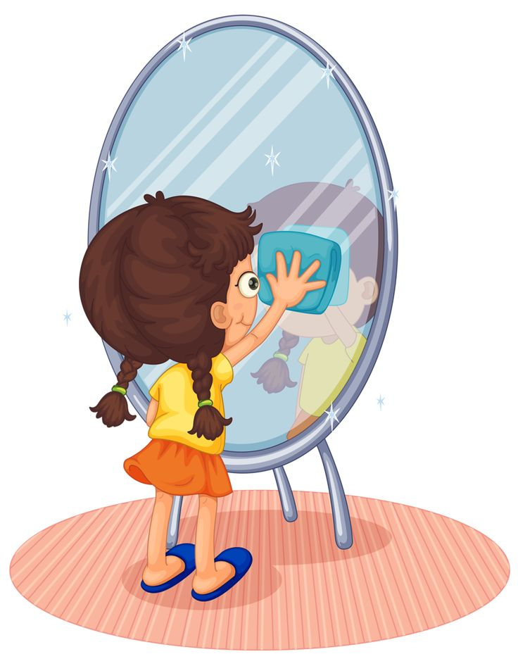 Картинка ребенок с зеркалом