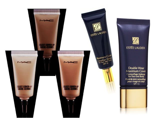 Estee Lauder Maximum Cover Foundation $33 Soothing, natural-looking, liquid-creme makeup for concealing all skin imperfections, including surgical and acne scars, birthmarks, sun spots and varicose veins. Helps protect with SPF 15. Suitable for post-surgery use as directed by your physician. 12-hour staying power. Developed and tested in collaboration with surgeons and dermatologists.