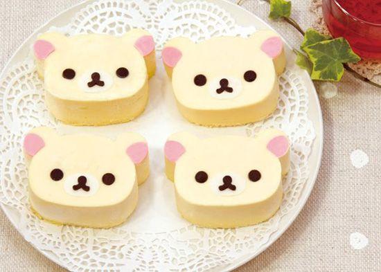 SparklesNGlitter: Kawaii Food! super cute bear cupcakes