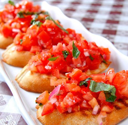 This appetizer never lasts long! Excellent bruschetta recipe