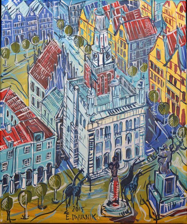 "ArtGalery ° PERSONALART.PL tytuł: ""Poznań"" autor: Edward Dwurnik personalart.pl/Edward-Dwurnik"