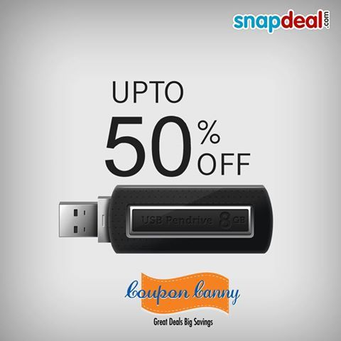 Up to 52% Off On Pen Drives at #Snapdeal! Claim Now : http://www.couponcanny.in/snapdeal-coupons/