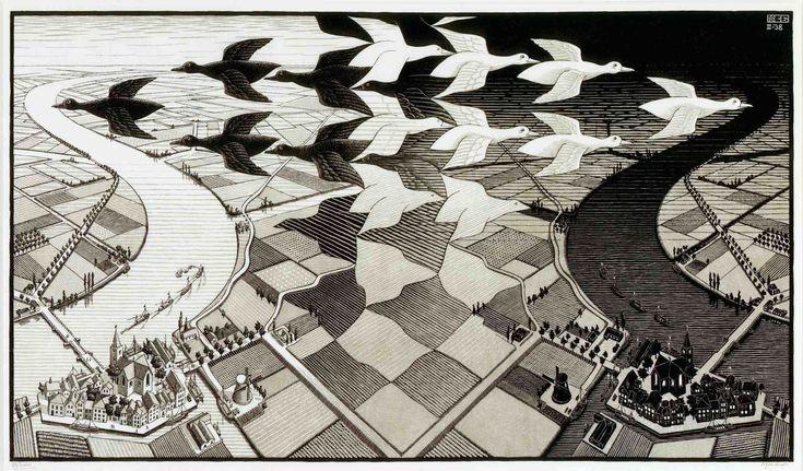 Mc Escher Wallpaper Hd Backgrounds 4 Full   Wallpaperiz.
