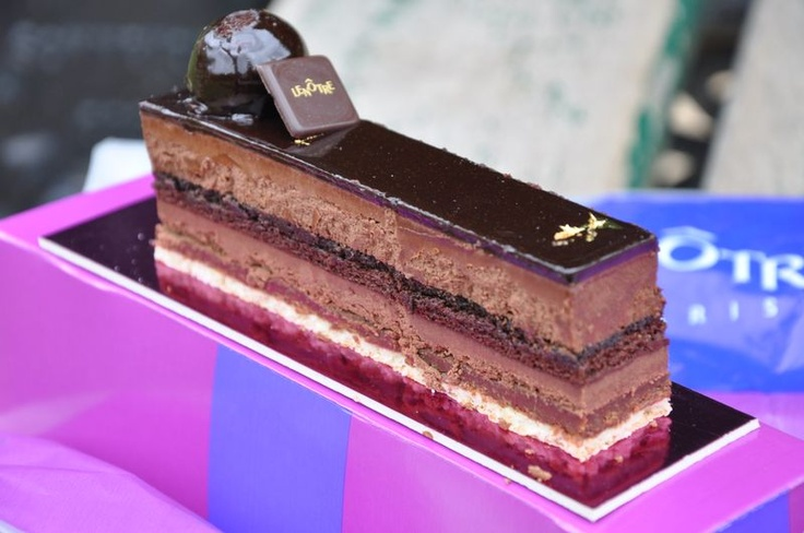 Concerto From Lenotre Layers Of Different Chocolate