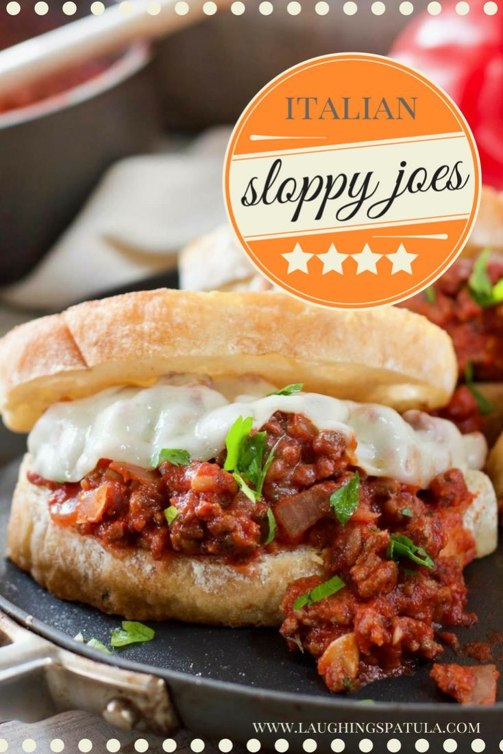 Sloppy Joes Italian Style!  30 Minutes and one pan!