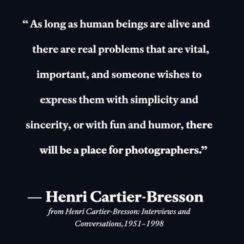 Presented for the first time in English Henri Cartier-Bresson: Interviews and Conversations19511998 brings together twelve notable interviews and conversations with Henri Cartier-Bresson carried out between 1951 and 1998. . While many of us are acquainted with his images there are few texts available by Cartier-Bresson on his photographic process. These verbal primary accounts capture the spirit of the master photographer and serve as a lasting document of his life and work which has…