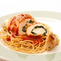 On of my favorite go to recipes: Yummy Spinach-Chicken Breast Rolls.