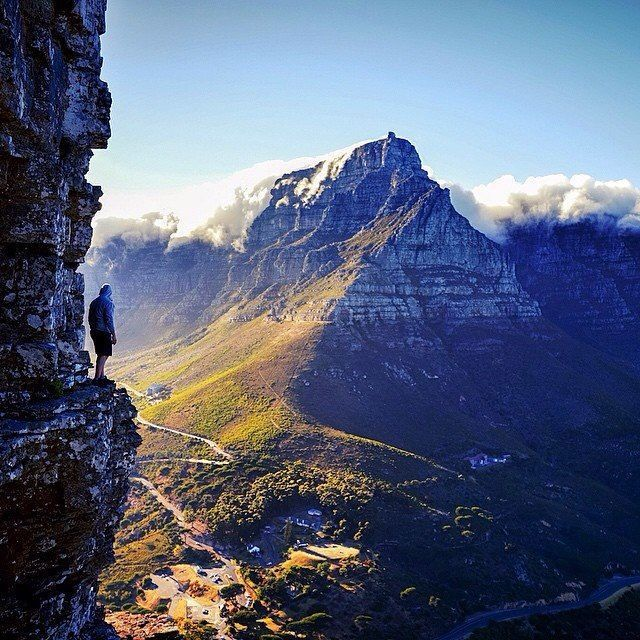 Table Mountain - as seen from Lions Head - Cape Town.