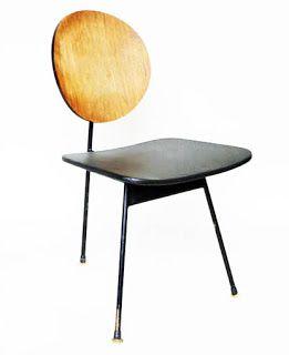 Stefan Siwinski designed a 3 legged dining chair | ^ https://de.pinterest.com/majamajki/polski-design/