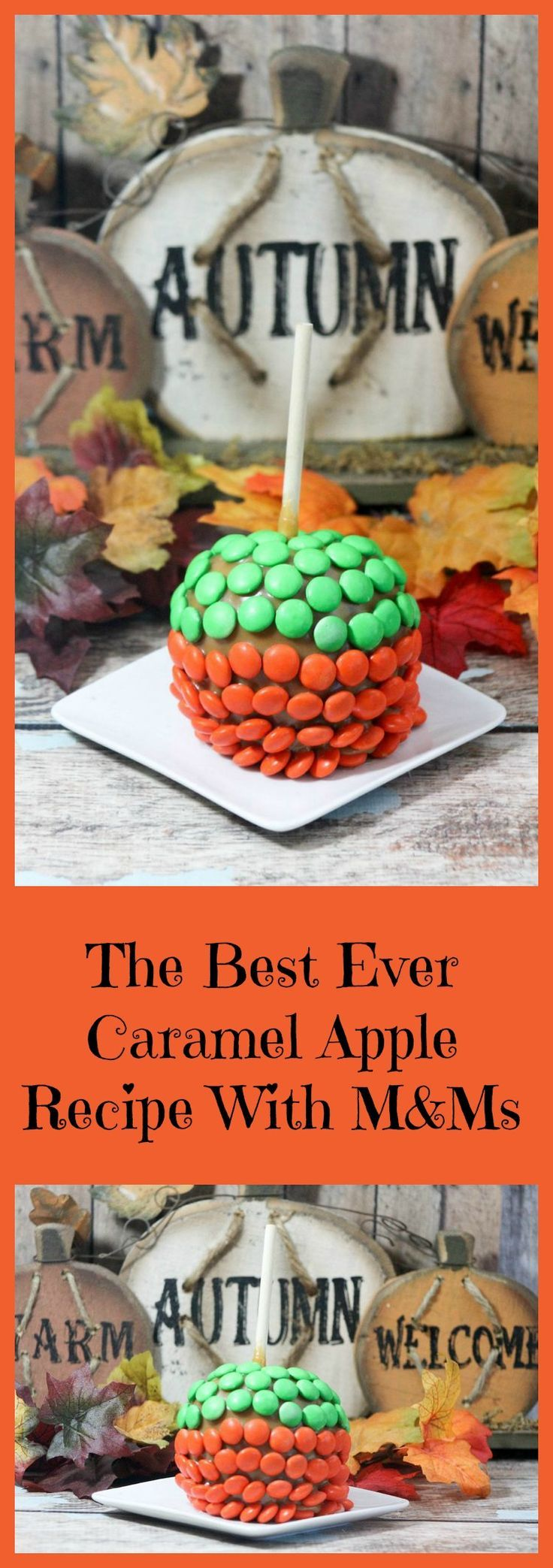 Ready for the best caramel apple recipe ever? This one shows you how to make your own caramel AND it's covered in M&Ms! So good! Check it out!
