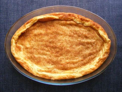 Crustless South African milk tart