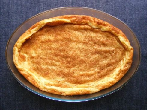 Crustless South African milk tart