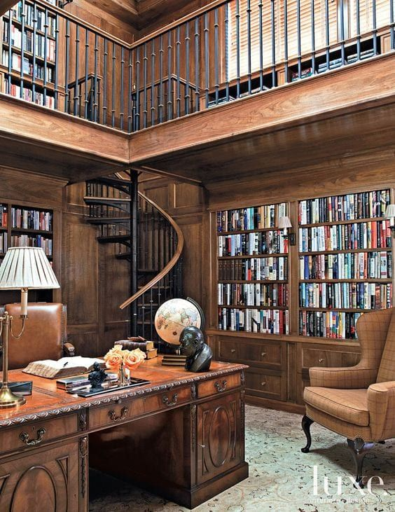 Victorian Home Library: Home Study Rooms, Study Room