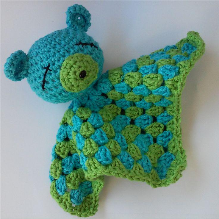 Crochet lovey, amigurumi bear.