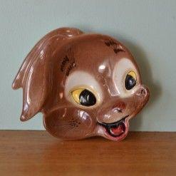 Vintage kitsch Bunny rabbit ceramic plate 276/6