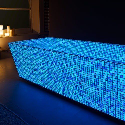 Fancy - Blue Photo Luminescent Mosaic Tiles by lovli.it