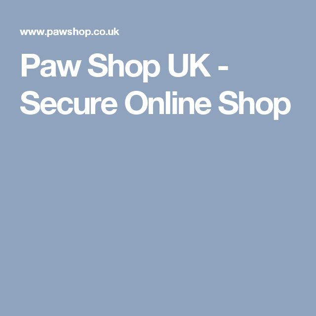 Paw Shop UK - Secure Online Shop
