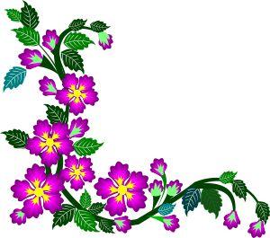 purple flower corner clipart border design 2015 16 border design rh pinterest com