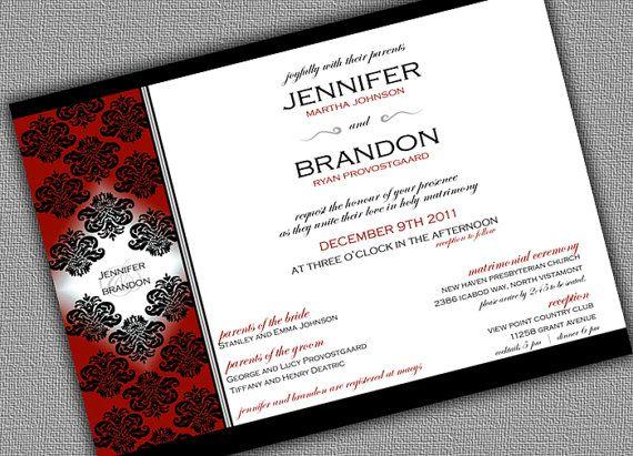 80 best Christmas Wedding Invitations images on Pinterest - fresh formal invitation to judges