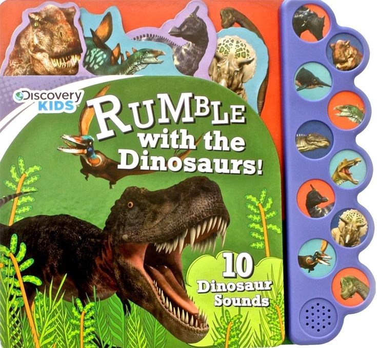Discovery Kids Dinosaurs Rumble Sound Book Discovery 10 Button.Educational  #ParragonInc