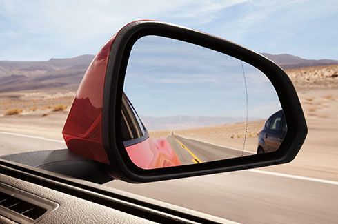 Mustang Mirrors – Heated, Body Coloured in Race Red and Dual Powered with Integrated Turn Signals