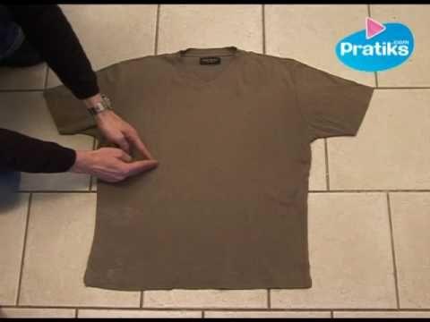 Cómo doblar una camisa in 5 segundos - YouTube