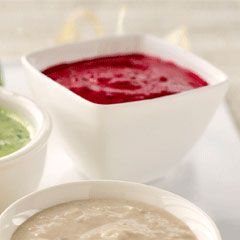Beetroot and chive dip