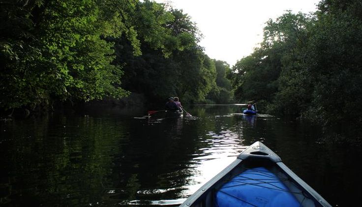 Evening canoe trip on the River Dart