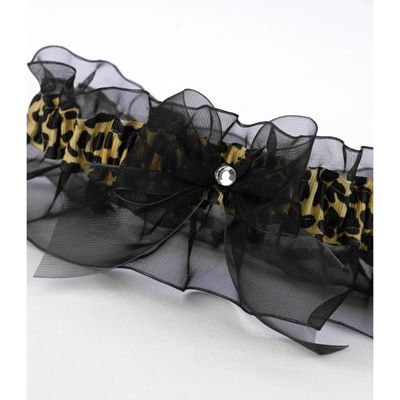 Leopard Print Garter $15.89; sexy garter for anytime; #honeymoon #lingerie #wedding