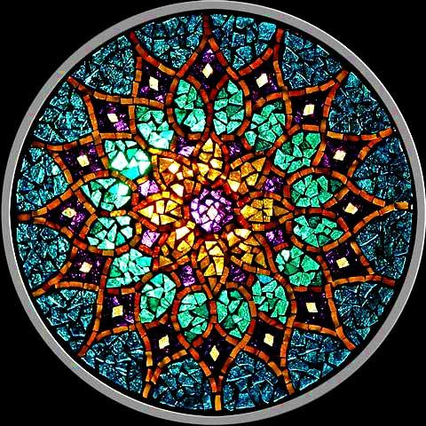 stained glass mandalas...awesome! OR MOSIC SUNCATCHERS? TRANSPARENT MOSAICS?