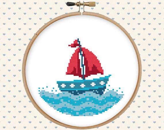 Nautical cross stitch pattern pdf summer cross stitch sea