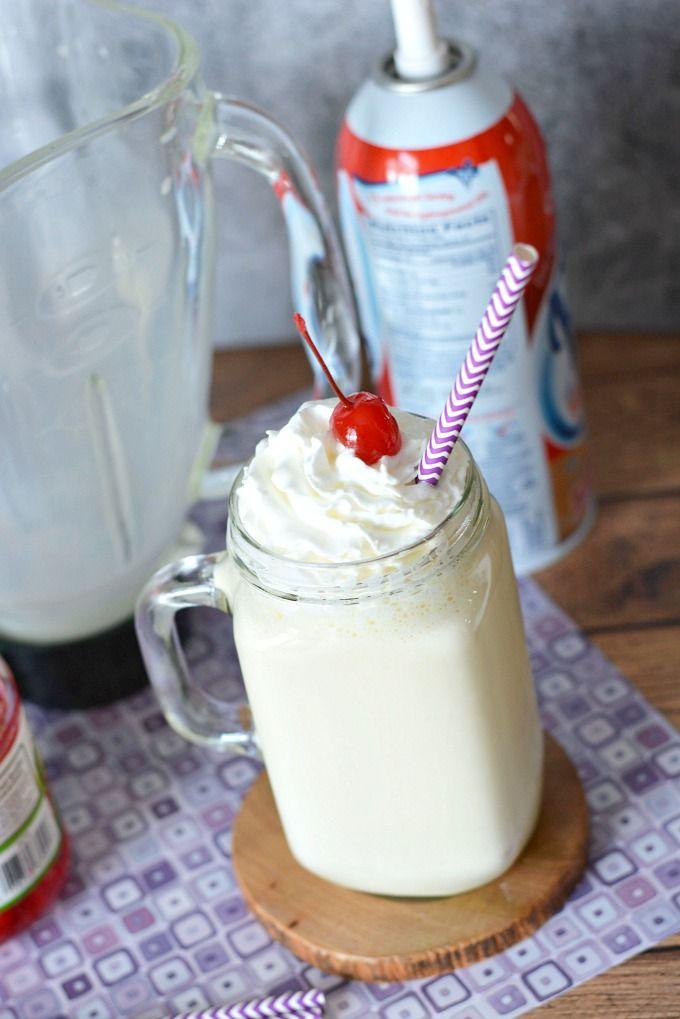 Homemade French Vanilla Milkshake Recipe - The Rebel Chick