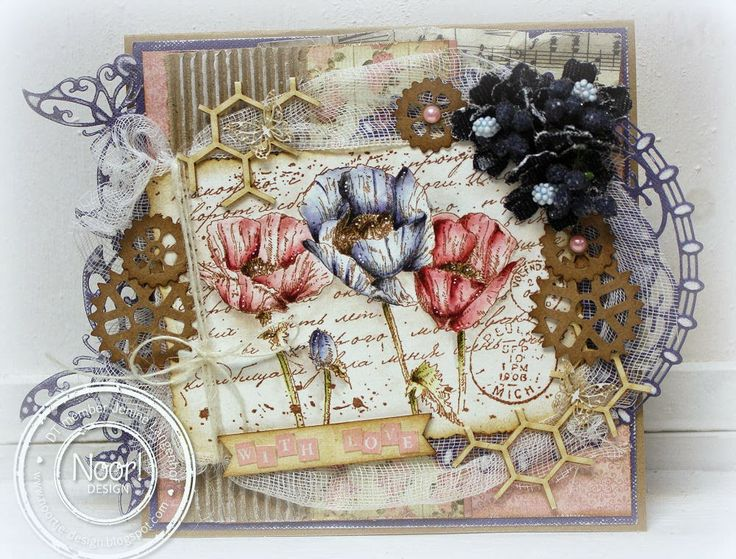 479.002.001 Dutch Doobadoo Paper Art Gears Kraft door Jenine Langenhof - Siemerink