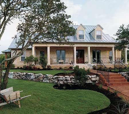 """Plan No: W4031DB Style: Farmhouse, Country, Southern, Traditional Total Living Area: 3,072 sq. ft. Width: 67'8"""" Depth: 53' Note house width. 4 BR plus ofc. FR narrow side facing back. Has back facing BR. 3car garage."""