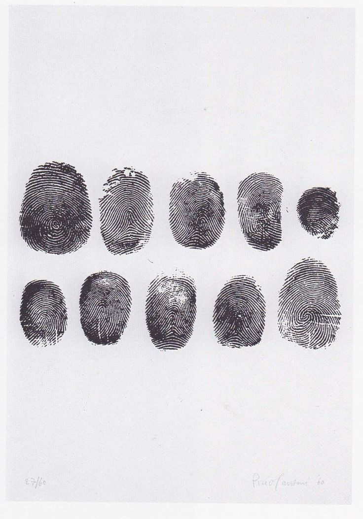 "Piero Manzoni [Italy] (1933-1963) ~ ""Fingerprints"", 1960 Printed paper.   #art #print #conceptual"