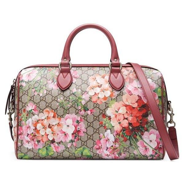 0b4849c02ba4 Women s Gucci Medium Blooms Gg Supreme Top Handle Canvas Bag ( 1