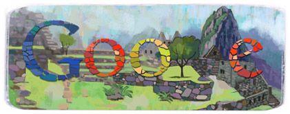 Google Doodle: Machu Picchu