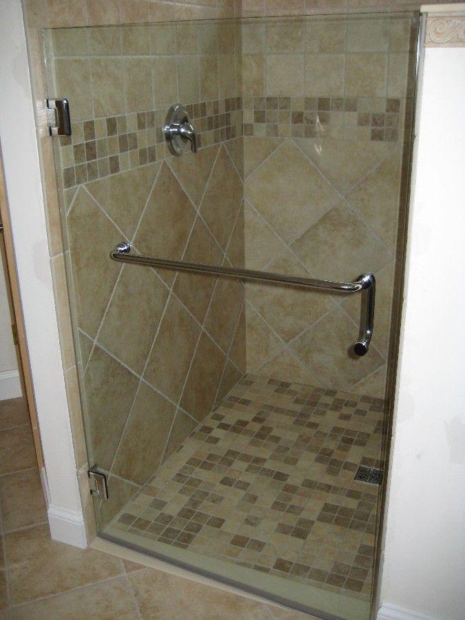 Tile Shower - yes please! I love the diamond pattern.