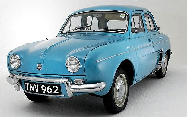 Renault Dauphine - popular rear-engine model sold from 1956 to 1967...